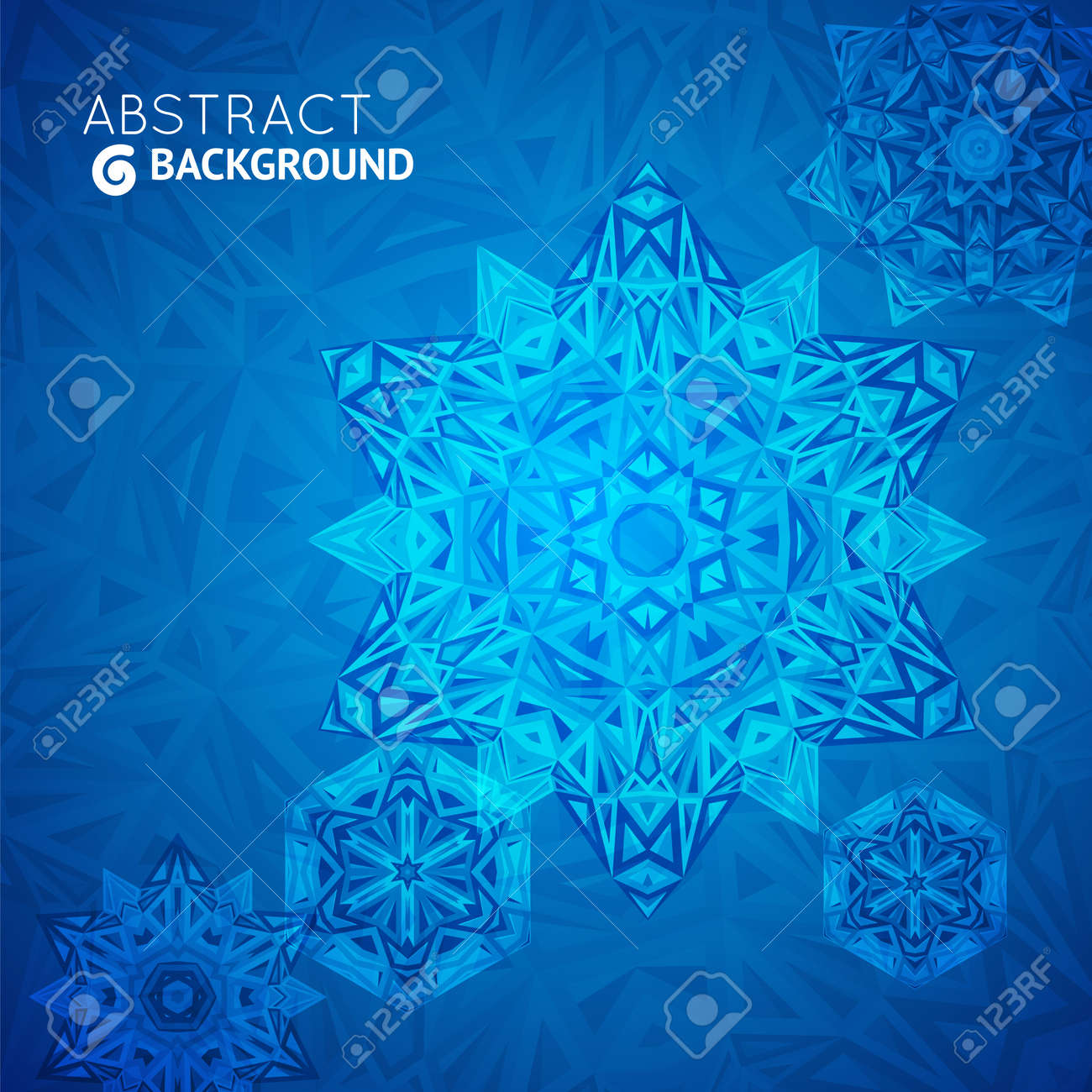 Blue business background, card with triangular design for your presentation Stock Vector - 21760210