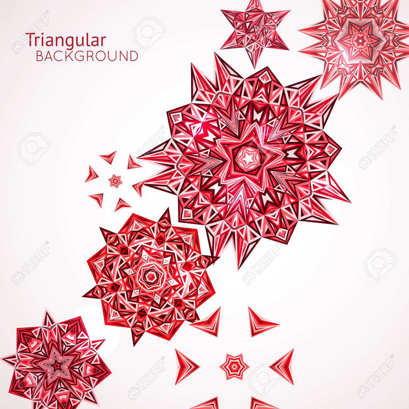 Abstract colorful background with techno triangles circles. Vector illustration Stock Vector - 21760213