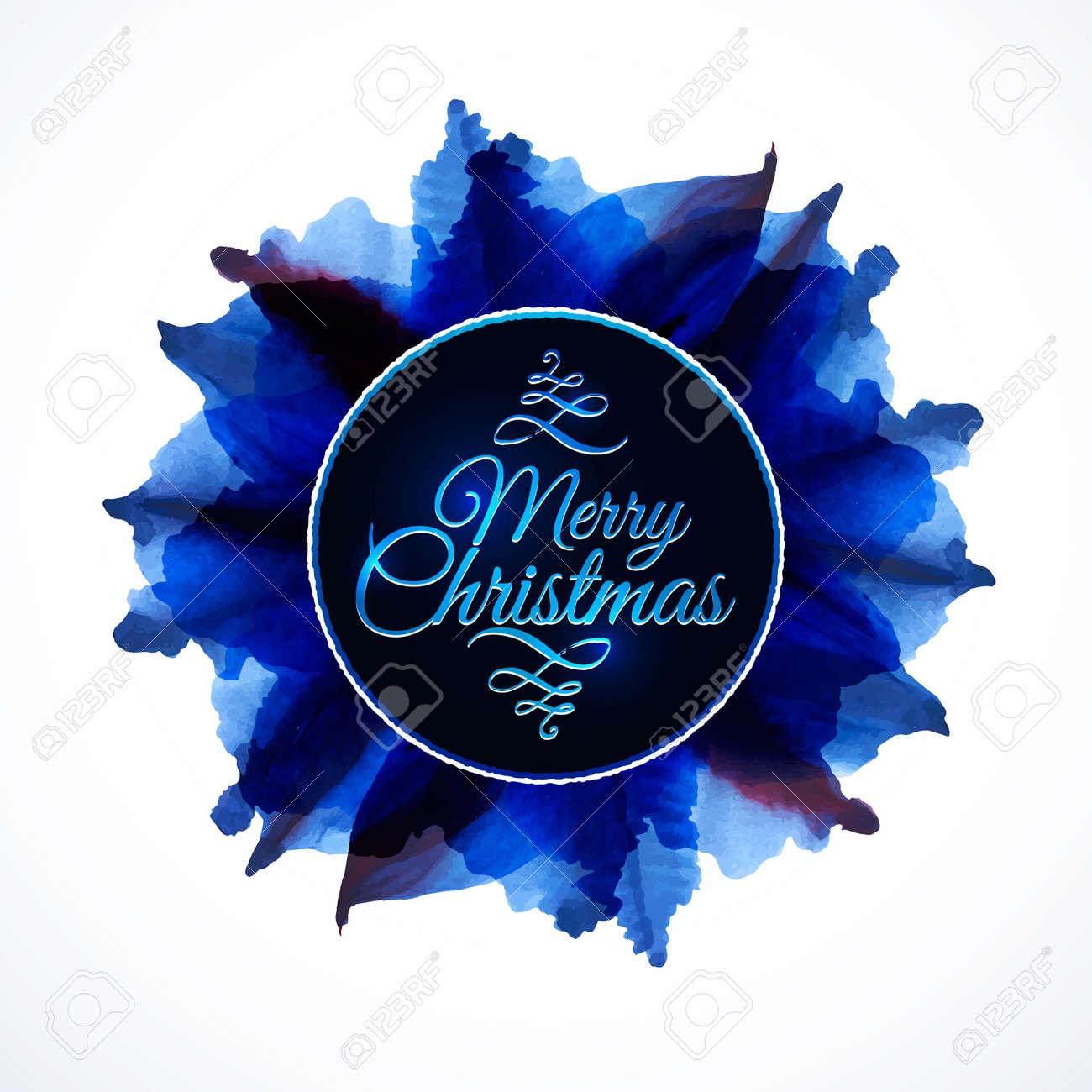 Composición Floral Fondo Con Letras Feliz Navidad Con Hojas De Color ...
