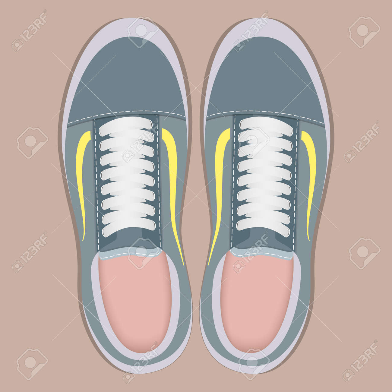 Pair Of Stylish Sport Sneakers, Top
