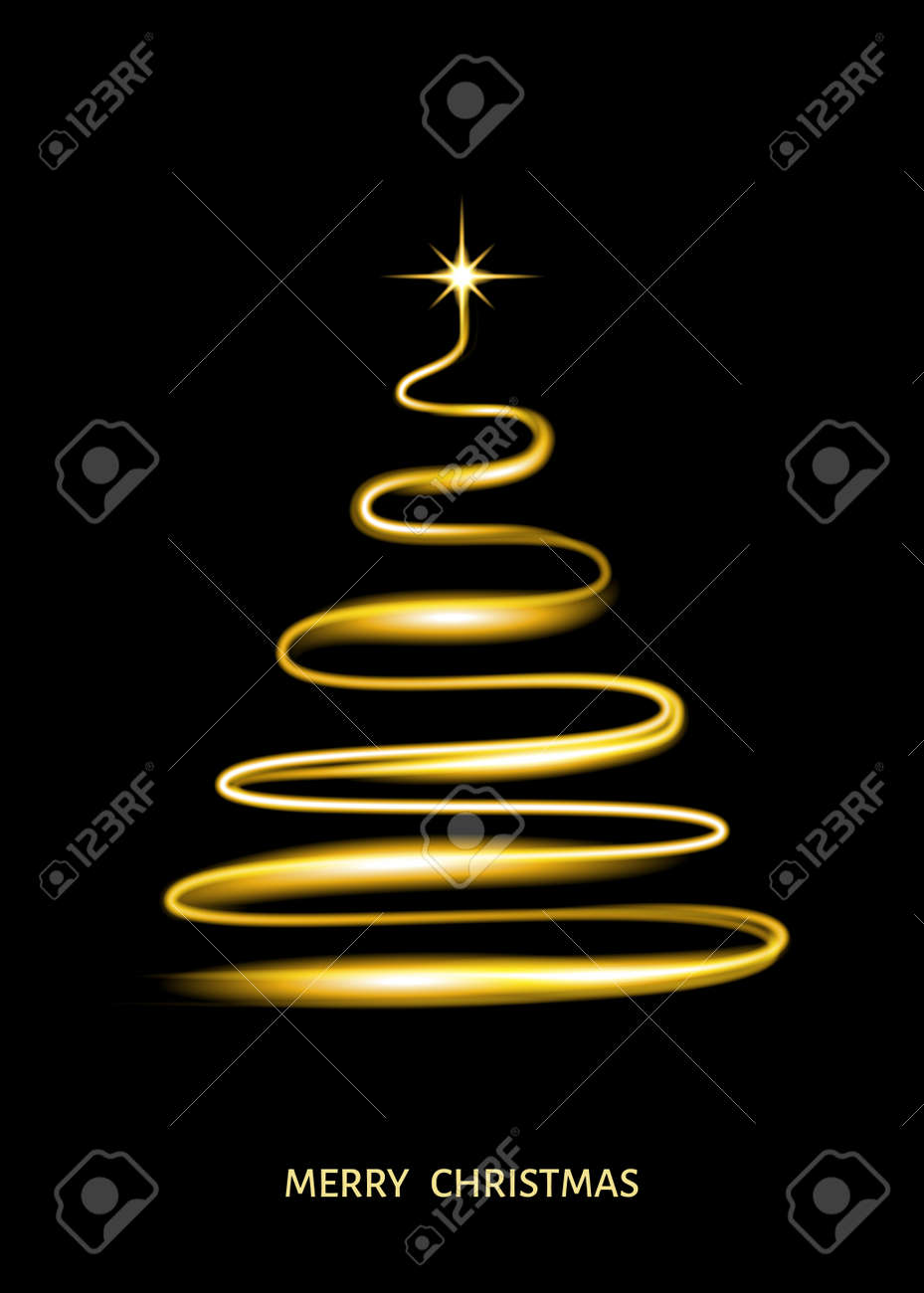 Background Black And Gold Christmas Decorations from previews.123rf.com
