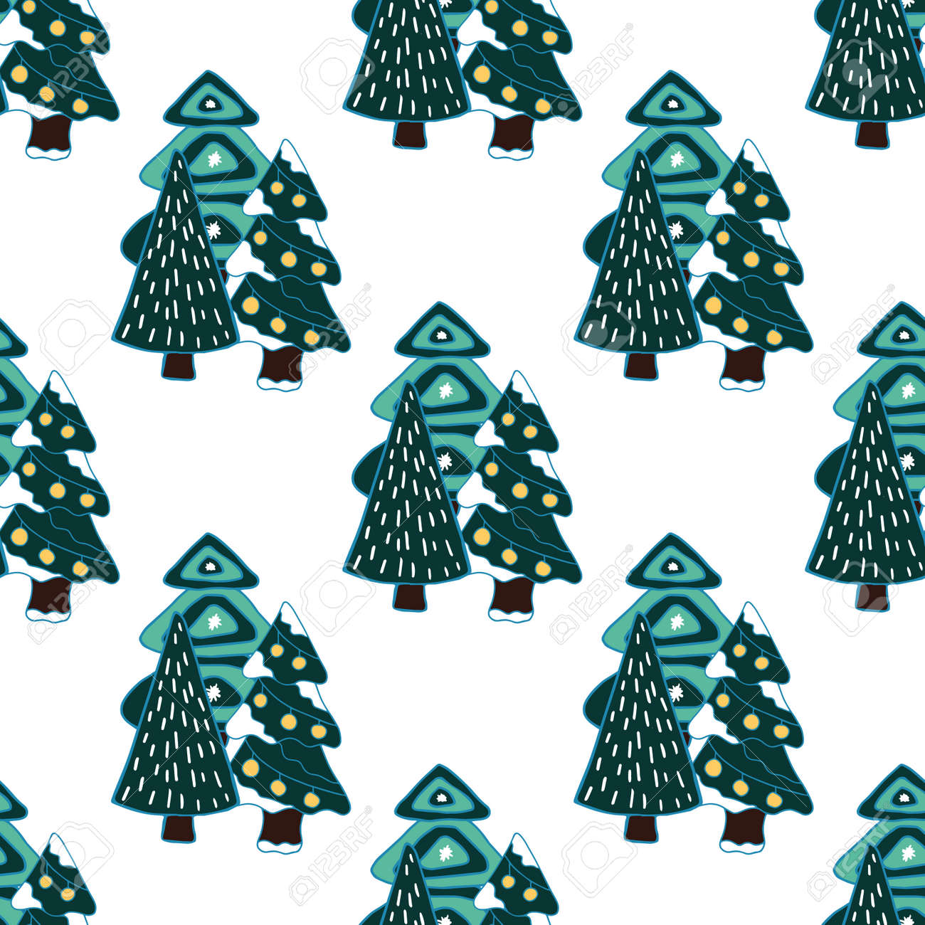 Christmas Nordic Design With Decorative Tree For Decoration Interior Royalty Free Cliparts Vectors And Stock Illustration Image 135964952