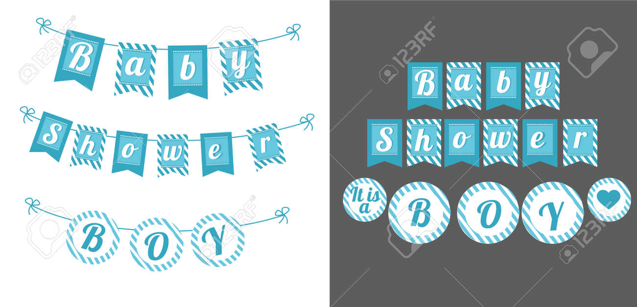 picture regarding Banner Printable named Printable template flags. Banner Boy or girl Shower Social gathering. Its a boy.
