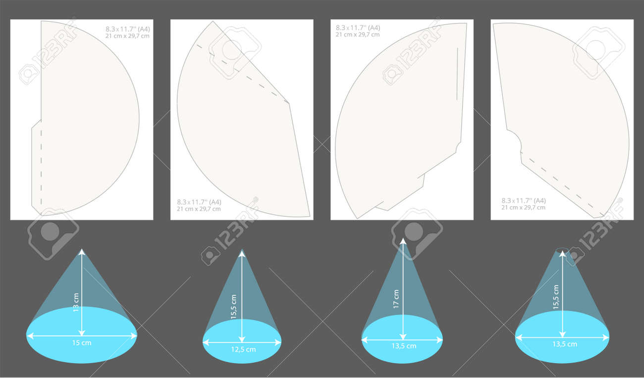 photograph about Printable Hats referred to as Preset of printable occasion hats. Vector cones template for a vacation