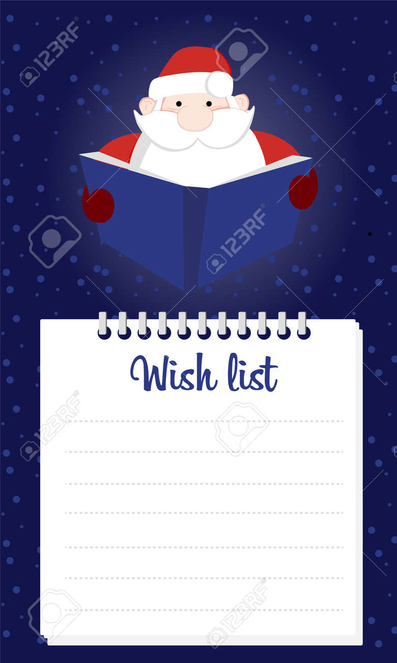 Christmas Wish List 2019.2019 Christmas Wish List Santa Claus Is Holding A Letter From