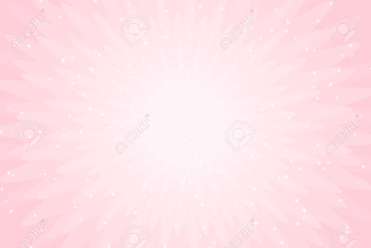 Vector Pink Background With Lights Wallpaper For Little Princess