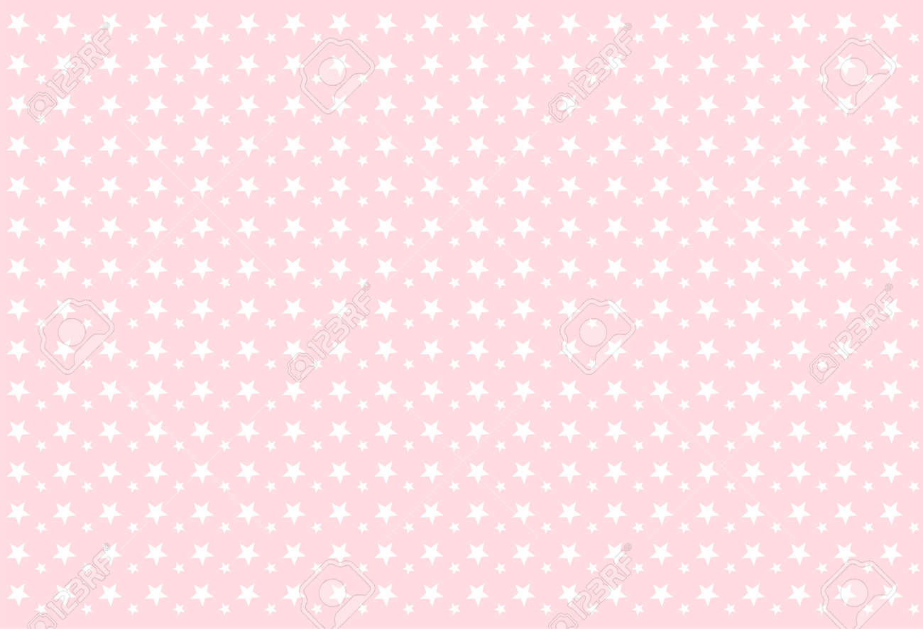 Seamless Girlish Pattern White Stars On Pink Background Backdrop Royalty Free Cliparts Vectors And Stock Illustration Image 117102342