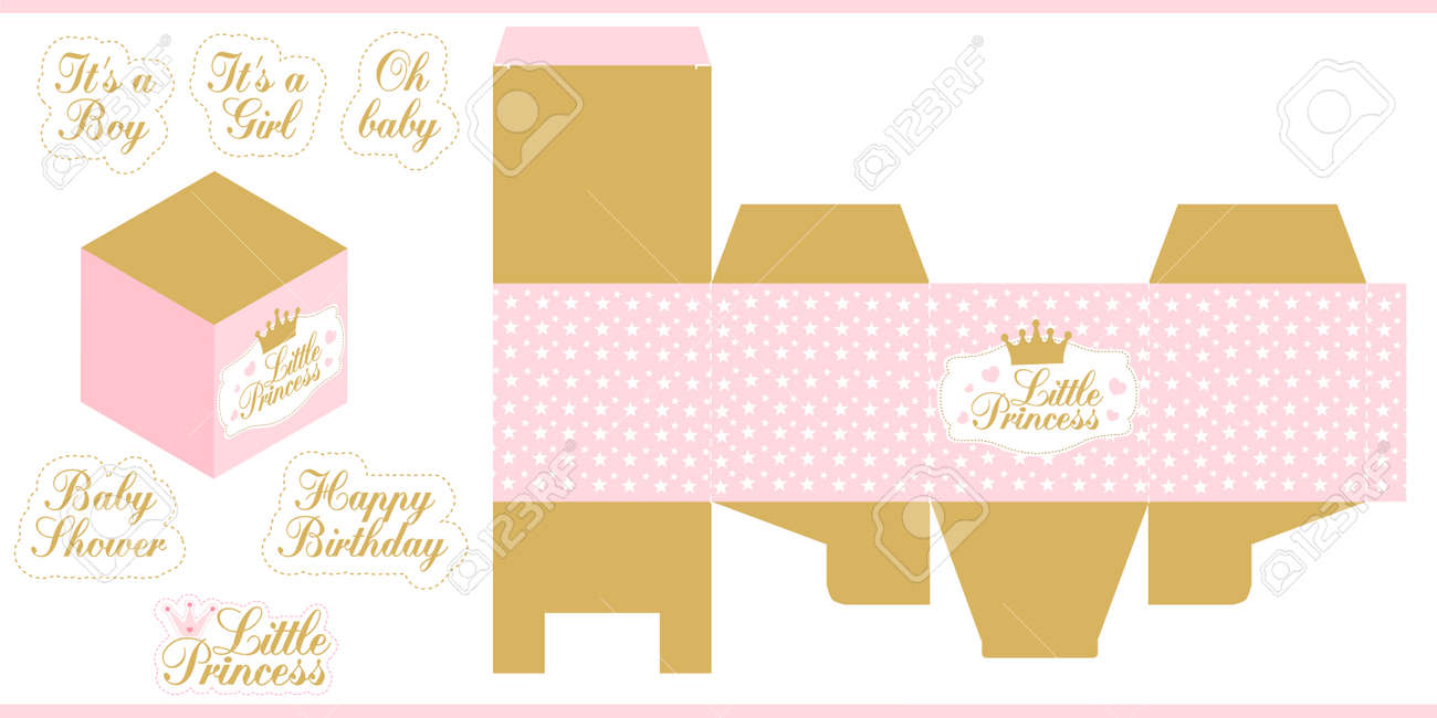 photo relating to Princess Party Printable identified as Very little princess celebration printable template (child shower, birthday)..