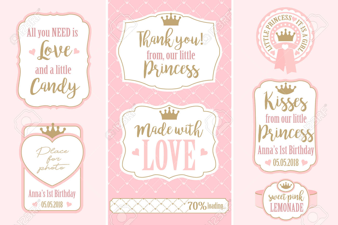 graphic about Bridal Shower Gift Tags Free Printable known as Established of vector basic frames. Templates reward tags for weddings..