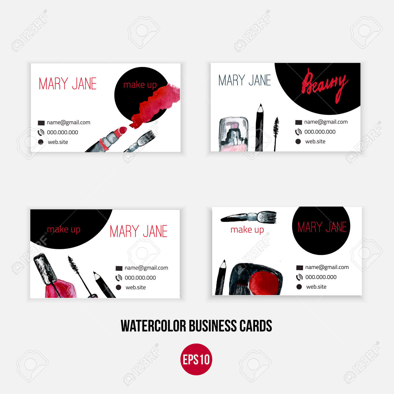 Make Up Business Card Template / Make Up Template With Nail ...