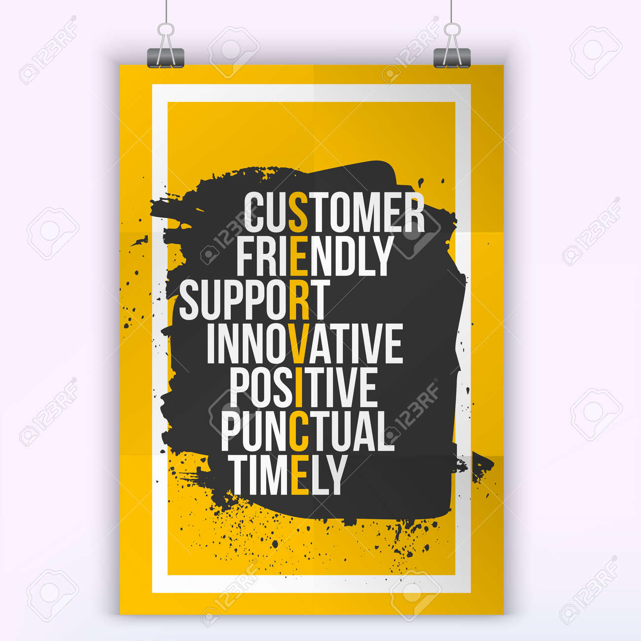 Service Quotes Customer Service Quote On Grunge Stainmock Up For Quotesa4