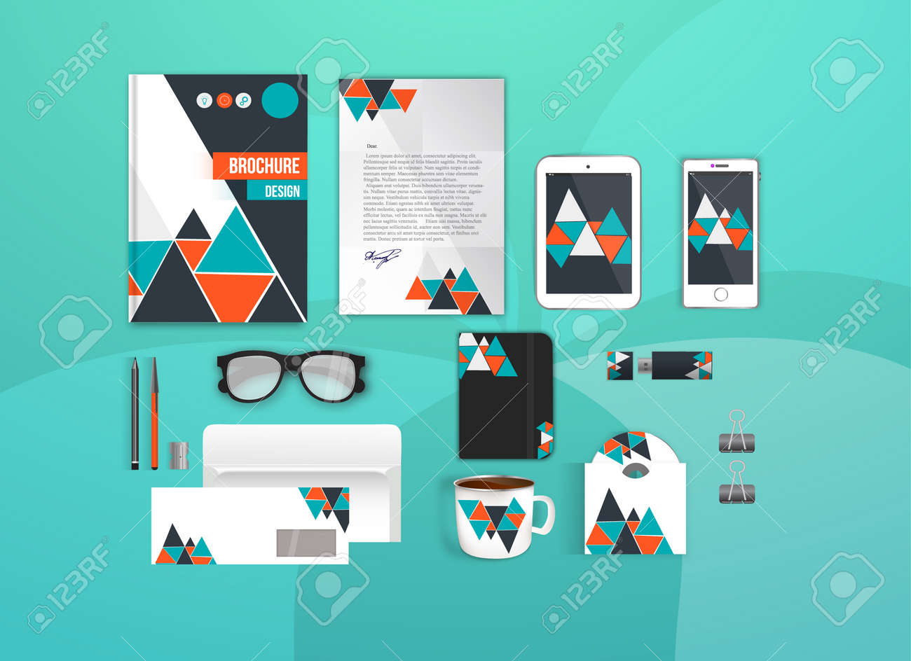 Corporate Identity Template Set. Business Stationery Mock-up ...