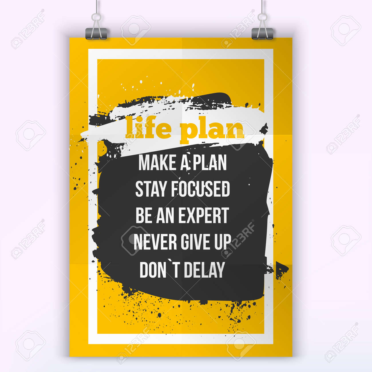 Life Plan Quote Inspirational Concept Image Poster For Wall Art ...