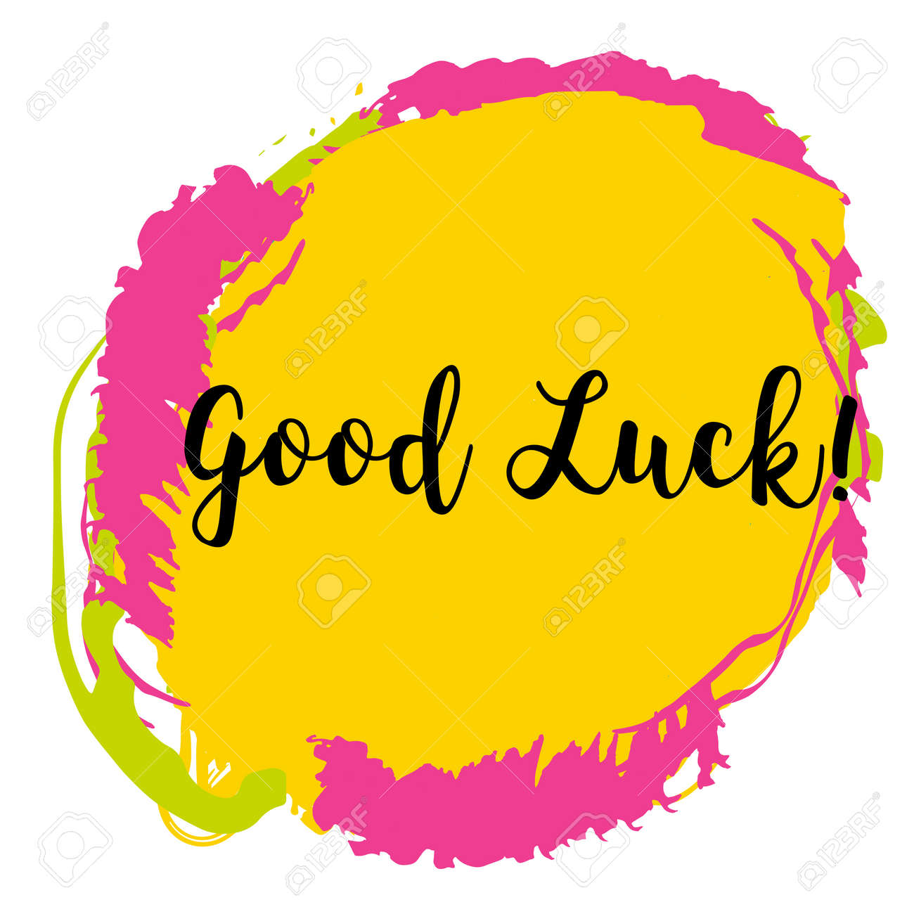 Good Luck Calligraphy. Concept Image Poster For Wall Art Prints ...