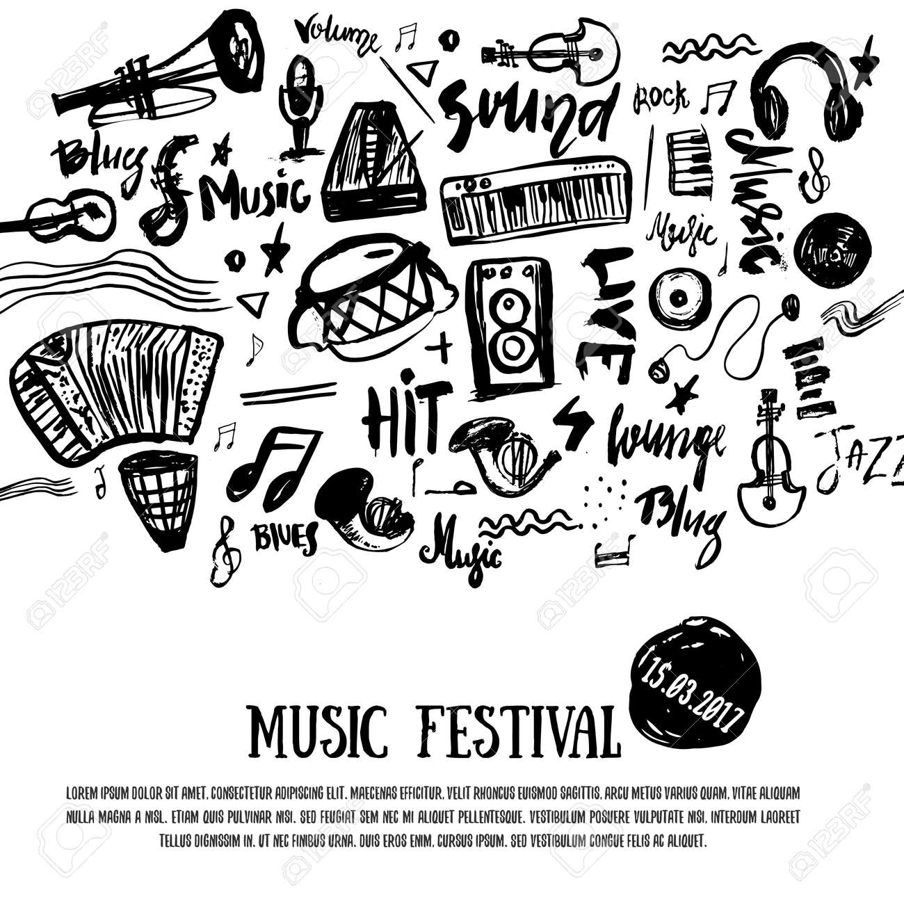 Music festival symbols image collections symbol and sign ideas music elements grunge musical background vector illustration music elements grunge musical background vector illustration black notes biocorpaavc Gallery