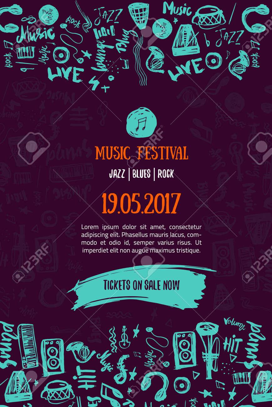 Music Concert Background Festival Modern Illustration Music