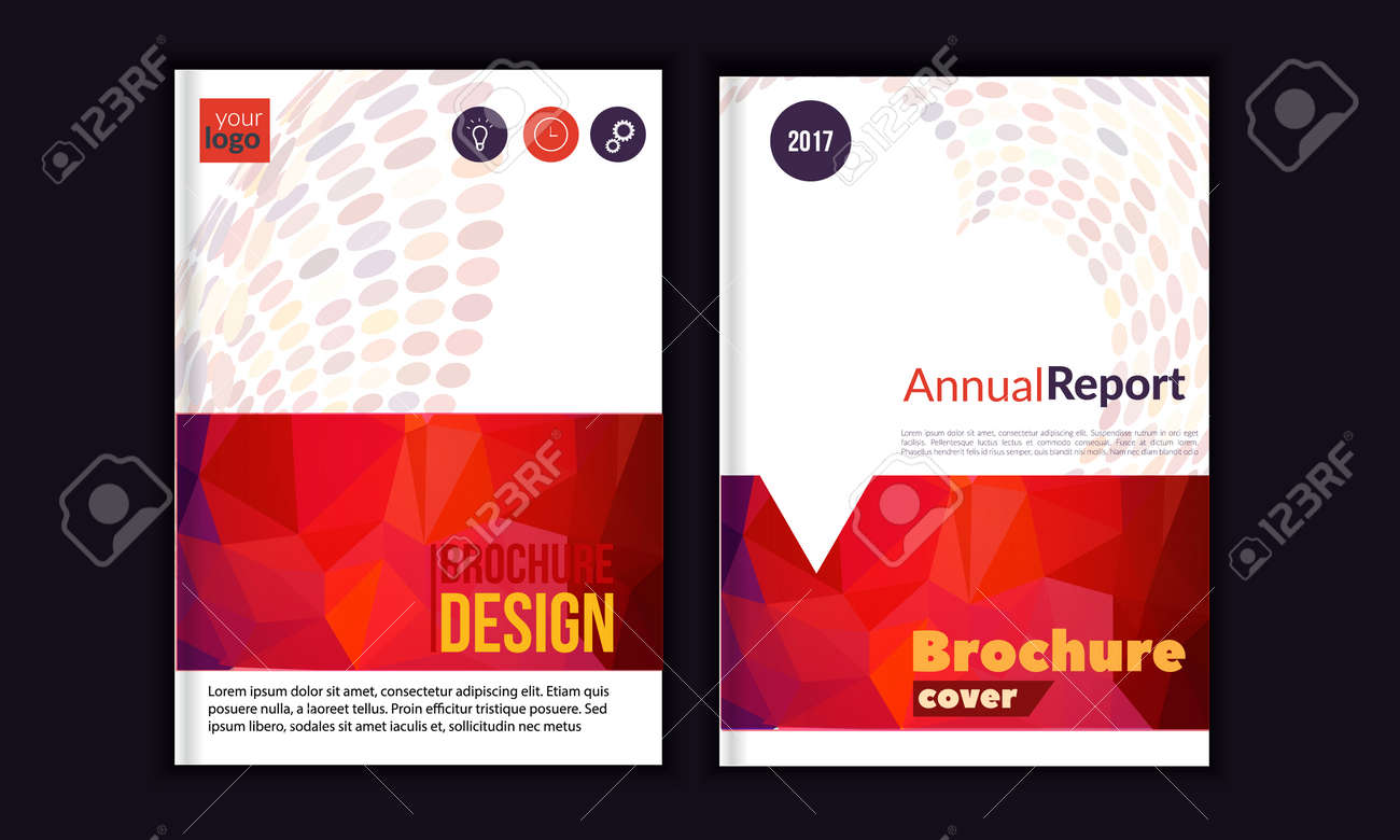 Clean vector annual report brochure template book cover layout clean vector annual report brochure template book cover layout design abstract triangle red saigontimesfo