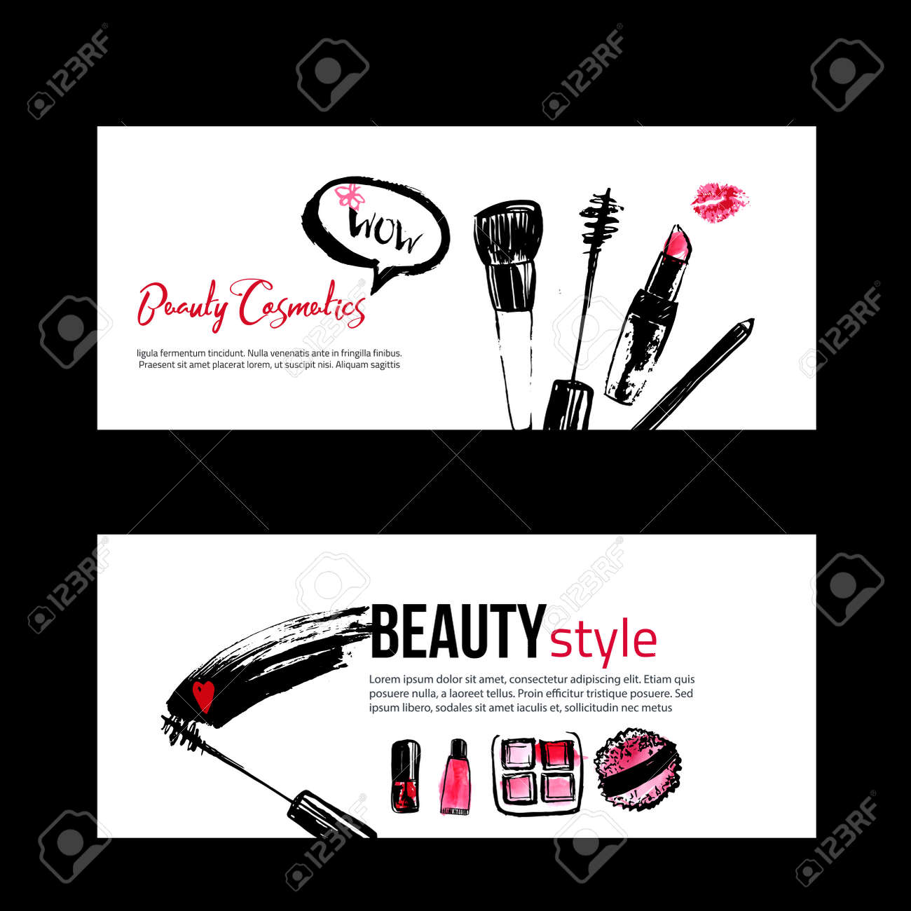 Banner Templates For Makeup Artist, Studio, Site Header, Business ...