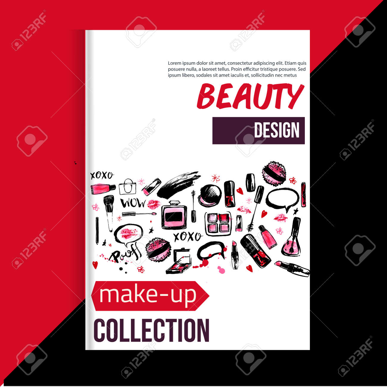 Makeup artist business cards templates free image collections brochure cover template for makeup artist studio business card brochure cover template for makeup artist studio magicingreecefo Images