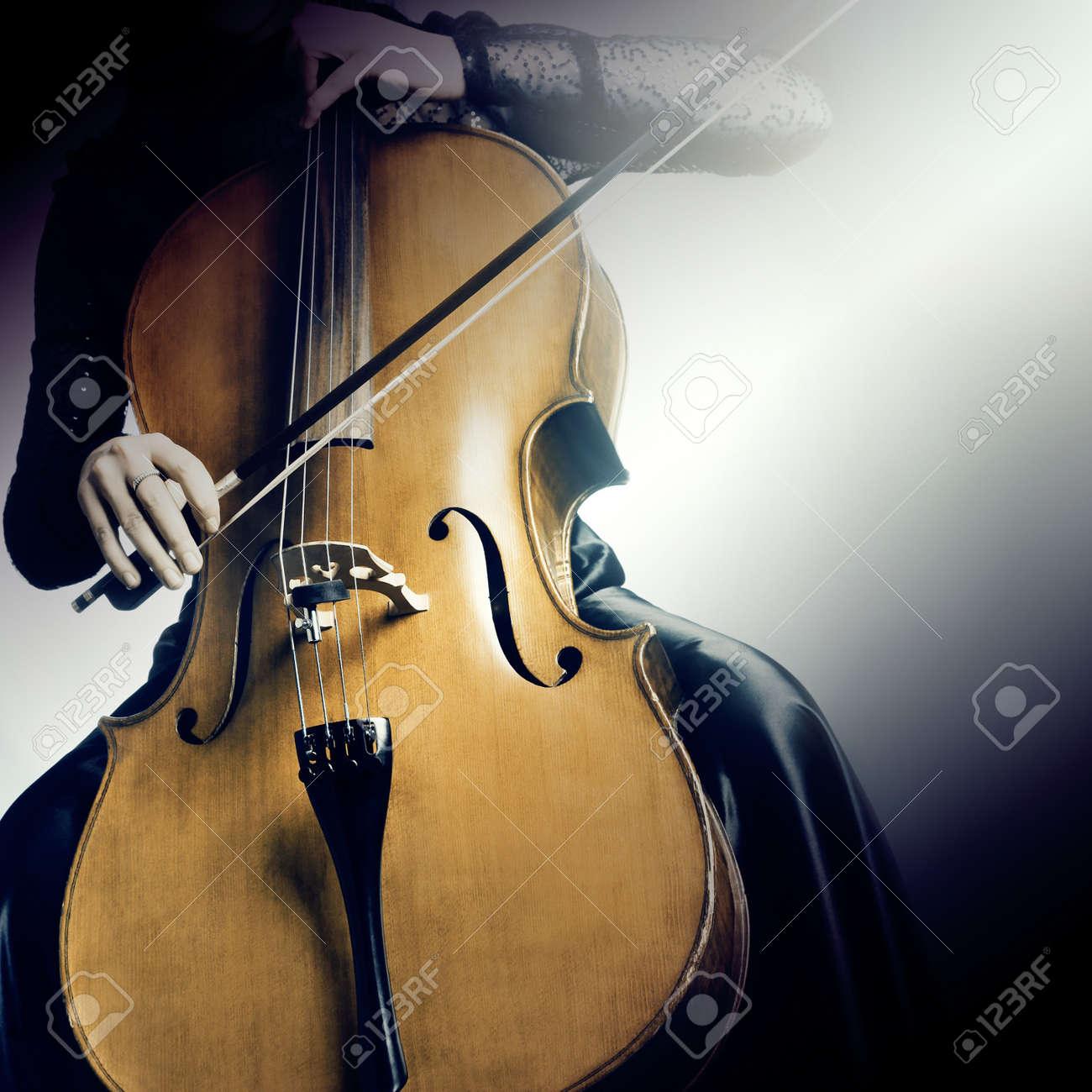 Cello orchestra musical instruments Standard-Bild - 19664239