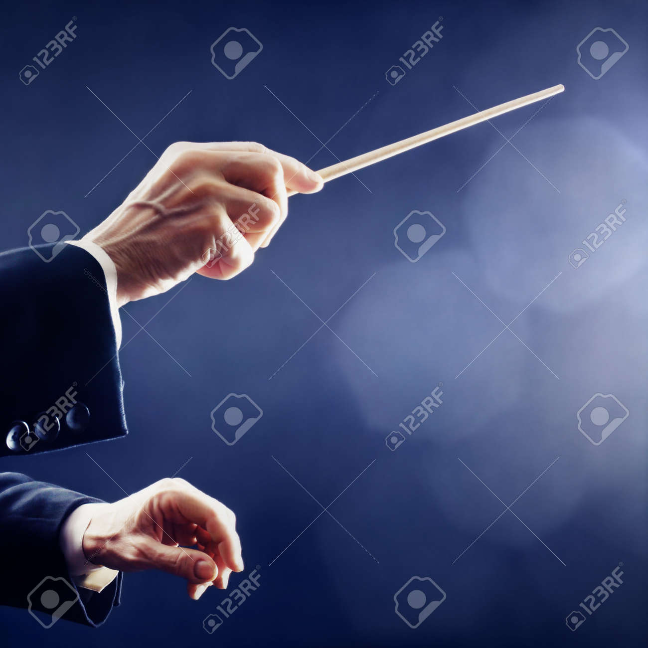 Music conductor hands orchestra conducting Standard-Bild - 20954021