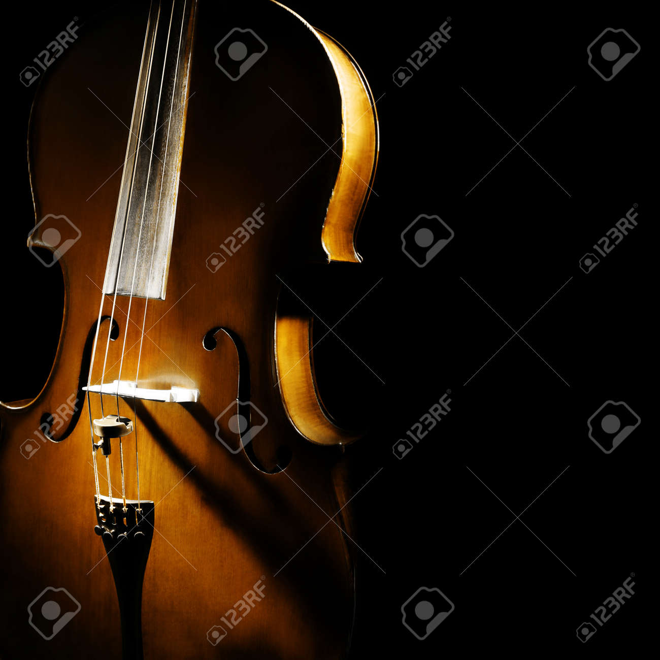 Cello orchestra musical instruments Standard-Bild - 22220710