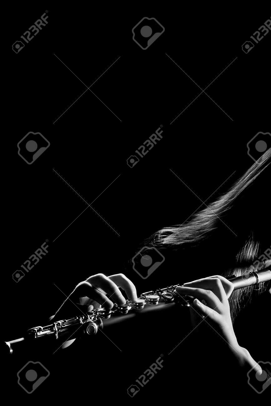 Flute orchestra concert music instruments flutist isolated Standard-Bild - 23372934