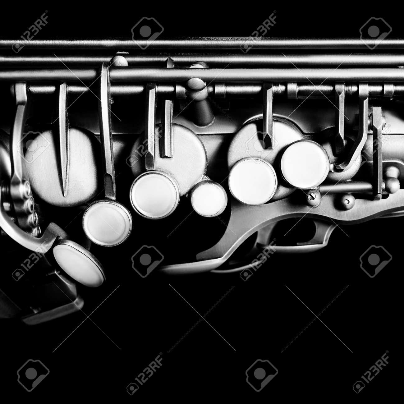 Saxophone alto jazz music instruments Sax close up Saxophone isolated on black Standard-Bild - 42119755