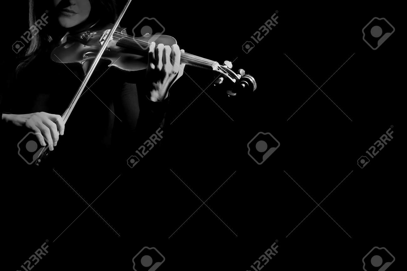 Violin player violinist playing classical music musical instruments Standard-Bild - 46787311