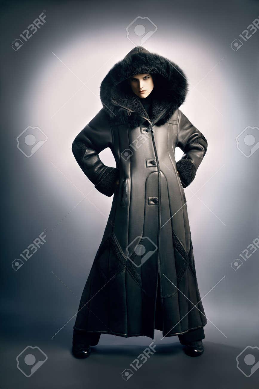 Manteau d'hiver femme a la mode