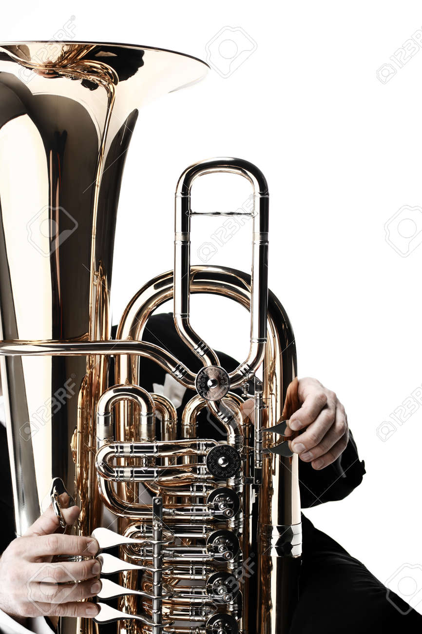Tuba brass instrument  Wind music instrument Orchestra bass