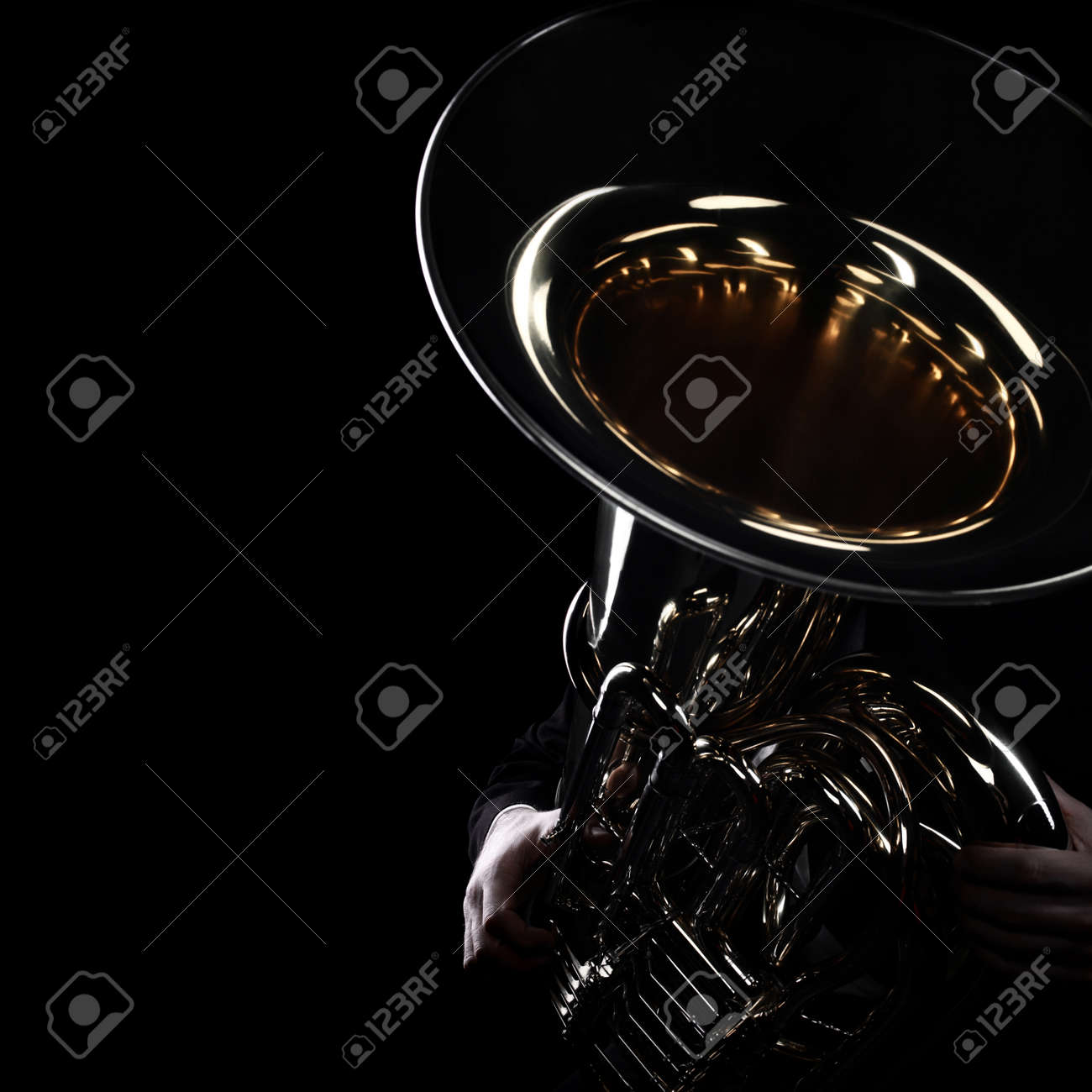 Tuba brass instrument  Wind music instrument Orchestra bass horn