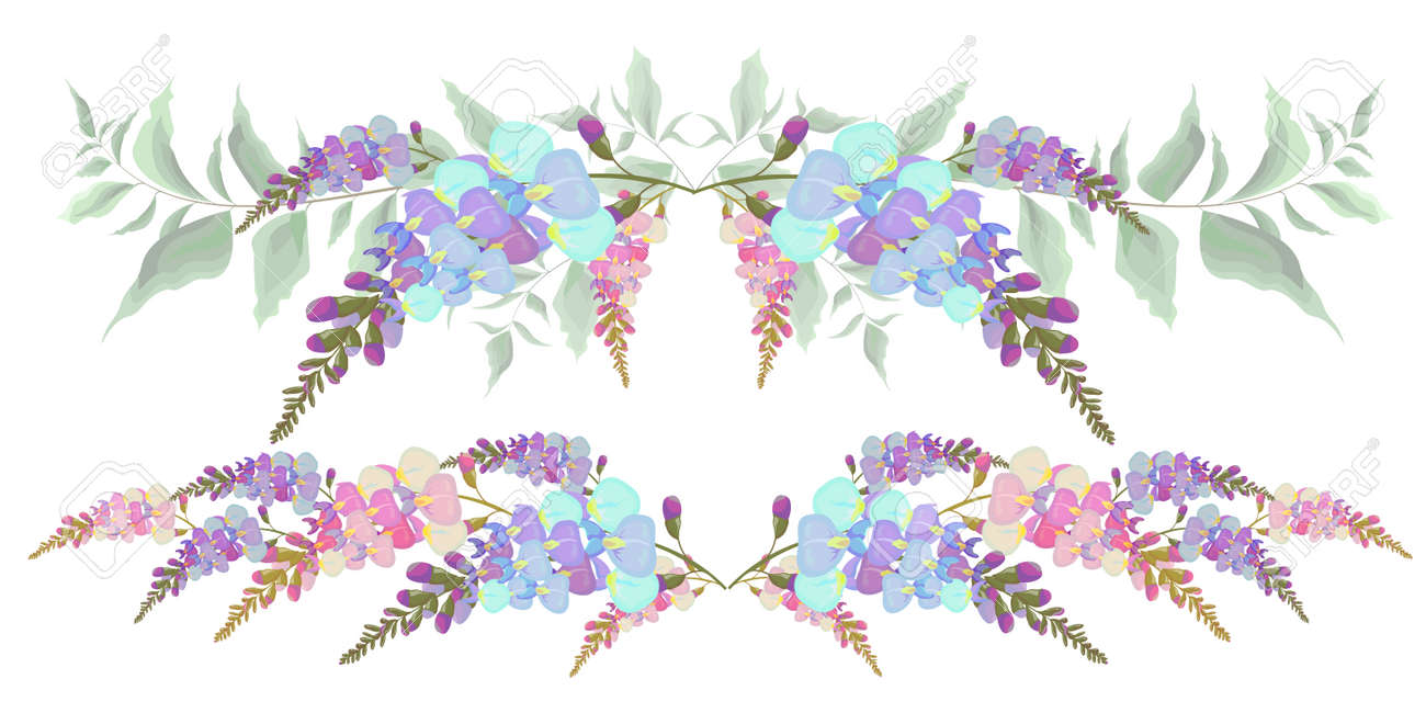 Wisteria Border Clipart | Free Images at Clker.com - vector clip art  online, royalty free & public domain