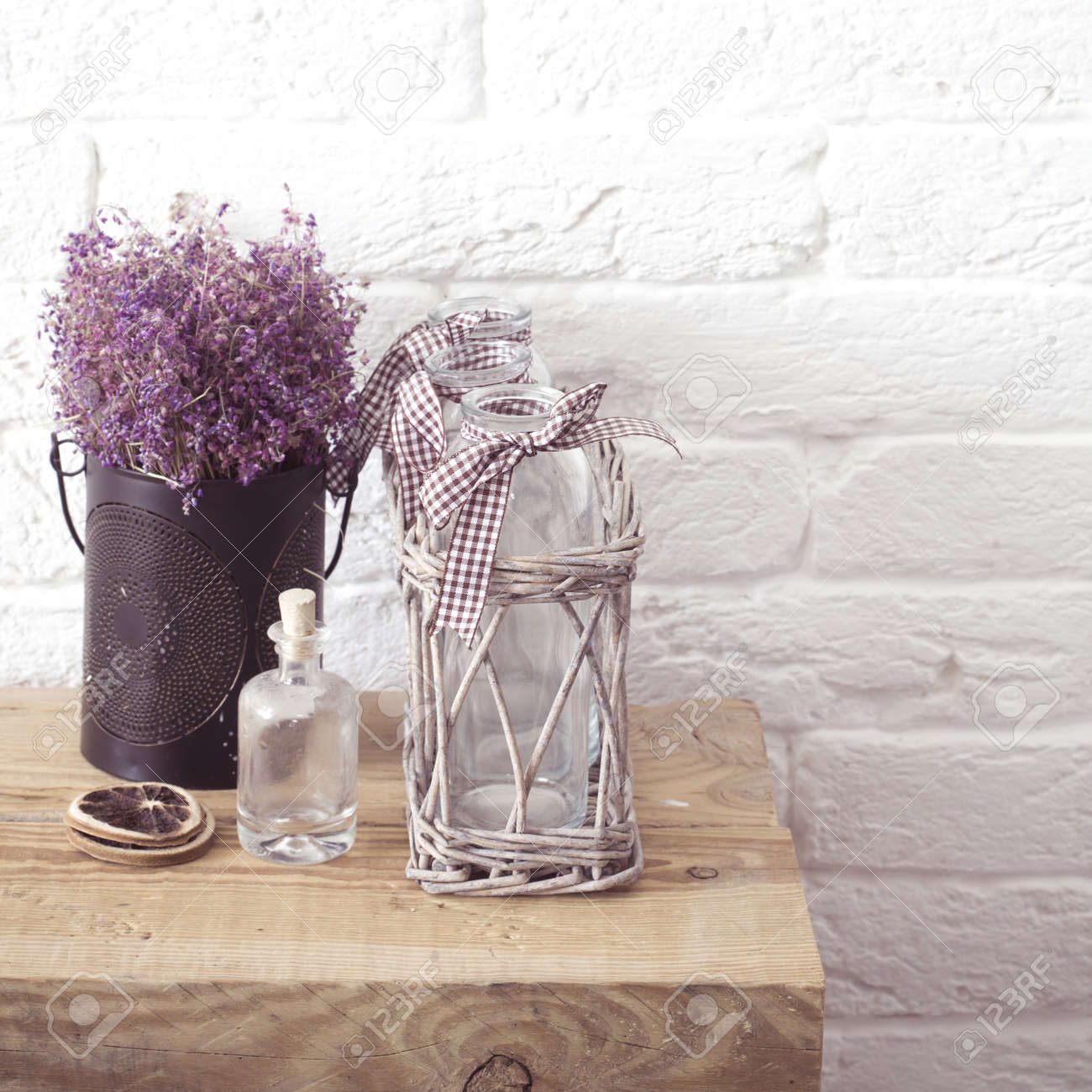 Rustic Home Decor Provence Style Lavender Bouquet Of Dried Stock Photo Picture And Royalty Free Image Image 32615714