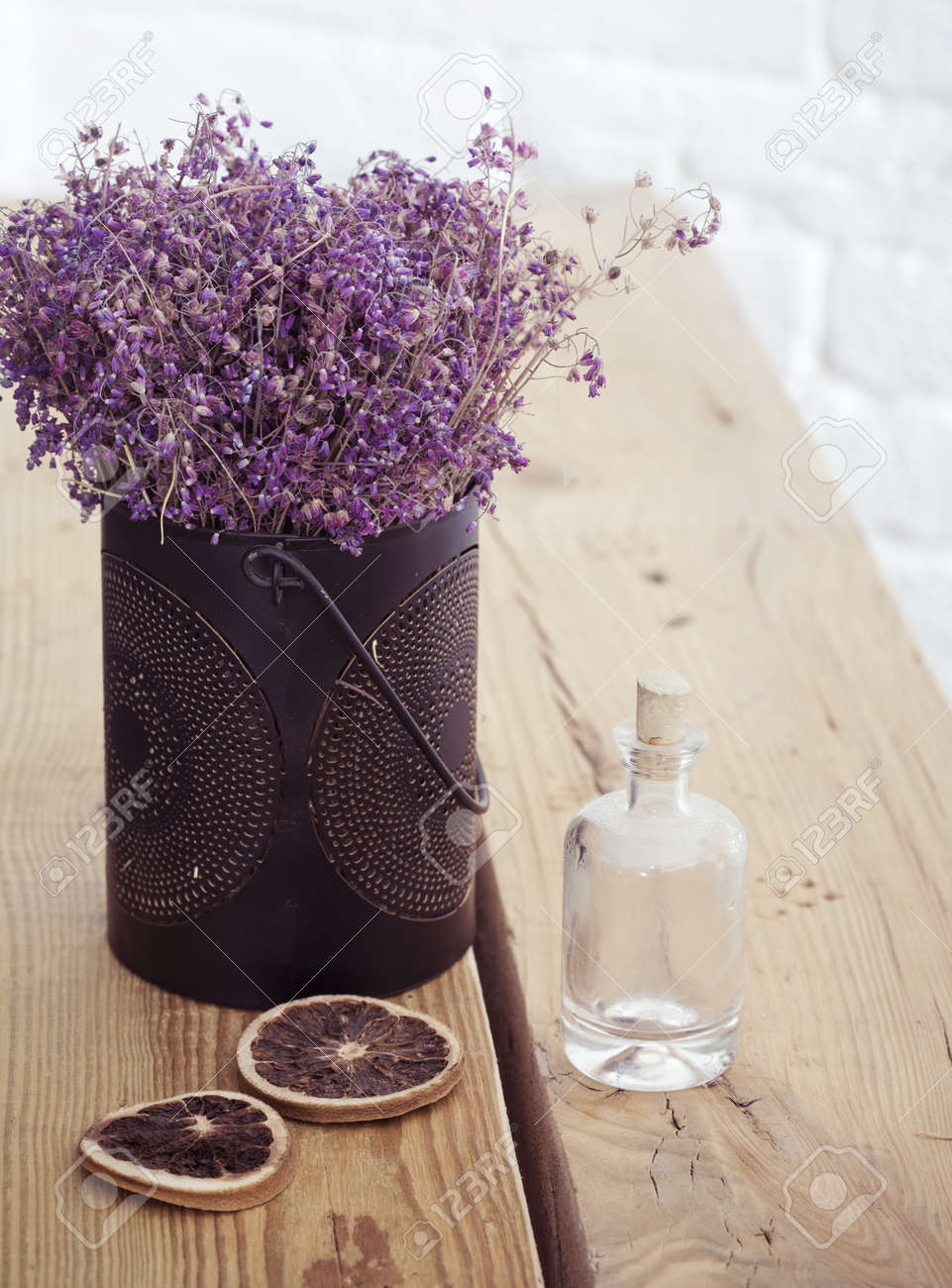 Rustic Home Decor Provence Style Lavender Bouquet Of Dried Stock Photo Picture And Royalty Free Image Image 32615738