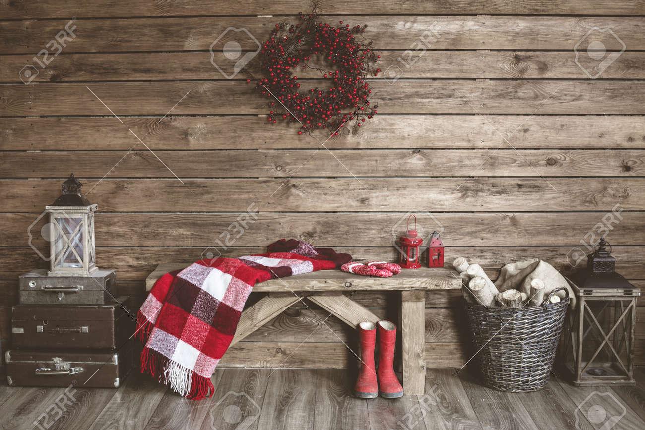 Maison Hiver Decor Noel Interieur Rustique Ferme Style De