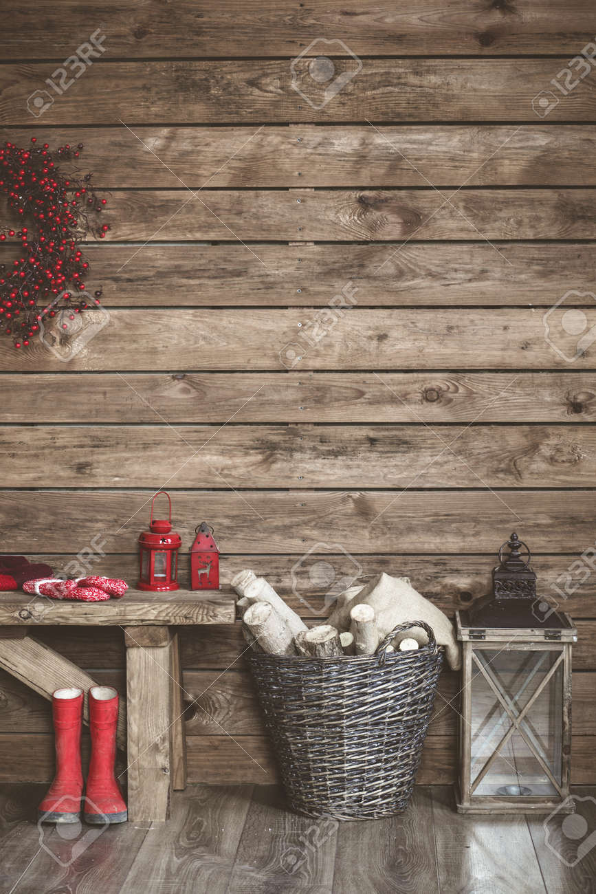 Winter Home Decor Christmas Rustic Interior Farmhouse Decoration