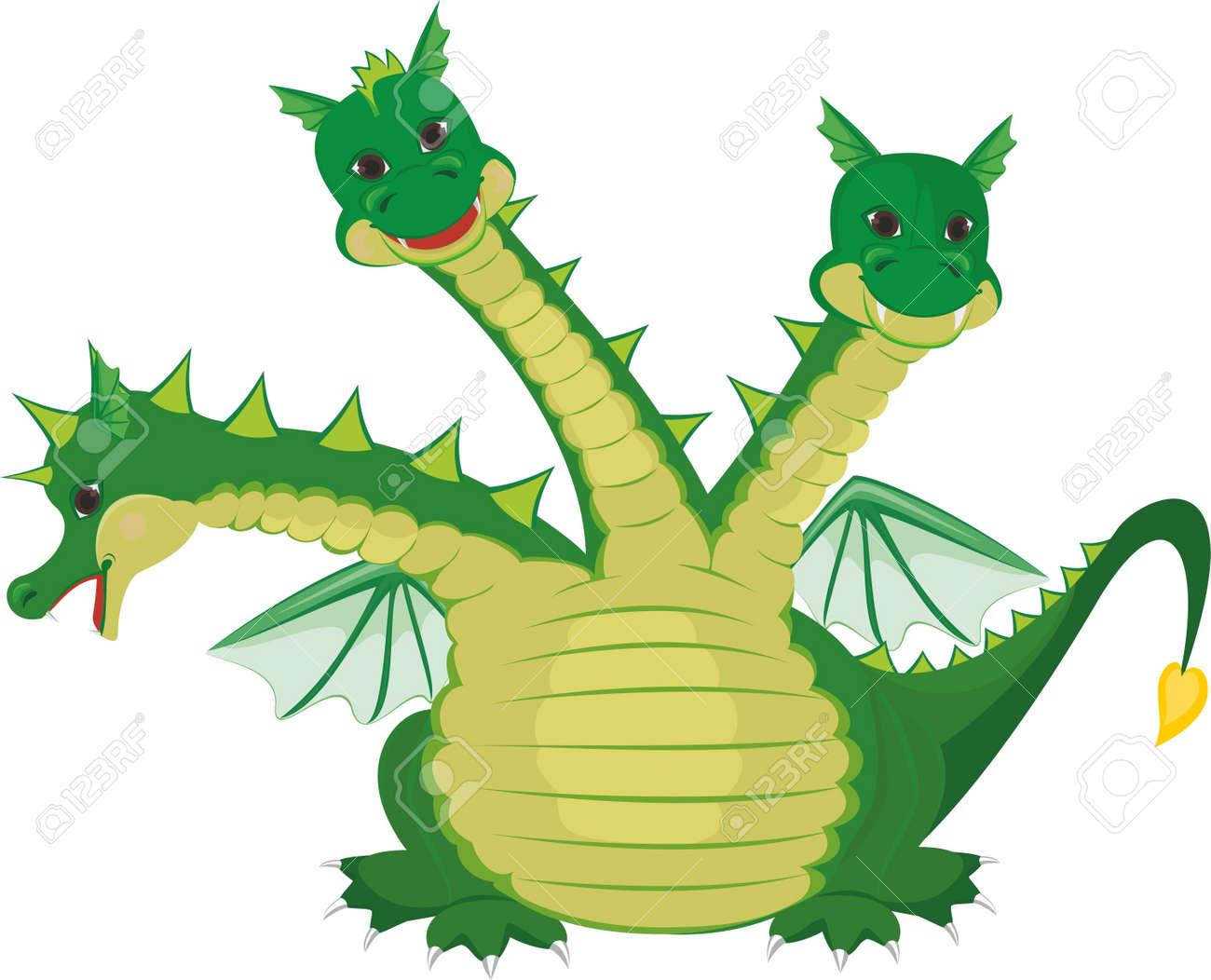 Cute Three Headed Dragon Royalty Free Cliparts, Vectors, And Stock ...