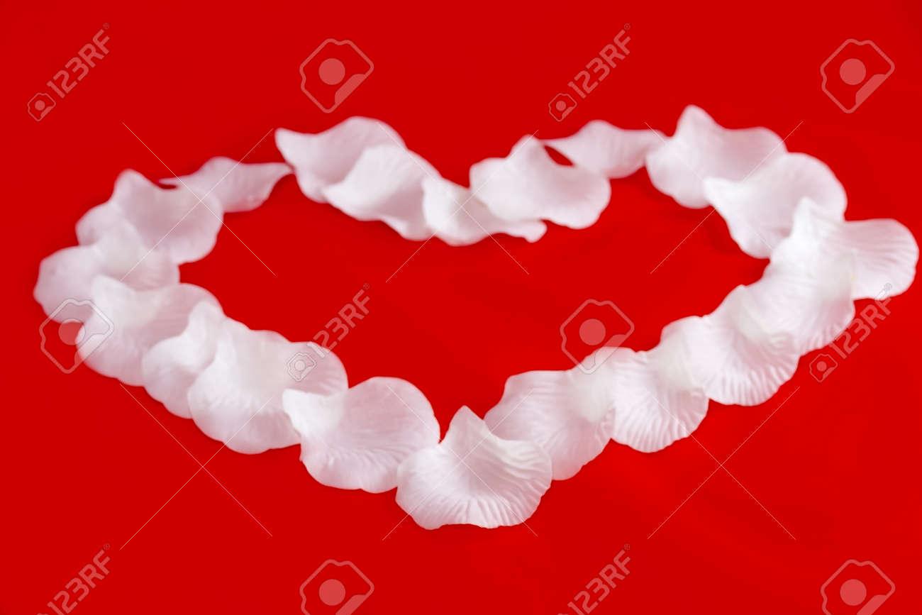 Heart Laid rose petals Stock Photo - 17192686