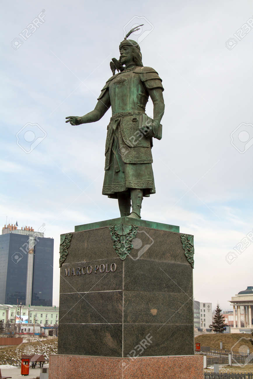 Monument Marco Polo In Ulan Bator, Mongolia Stock Photo, Picture And ...