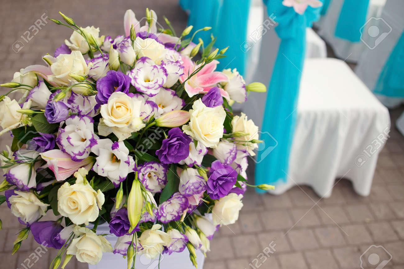 Belle Fleur Romantique Mis En Place La Decoration Sur La Ceremonie