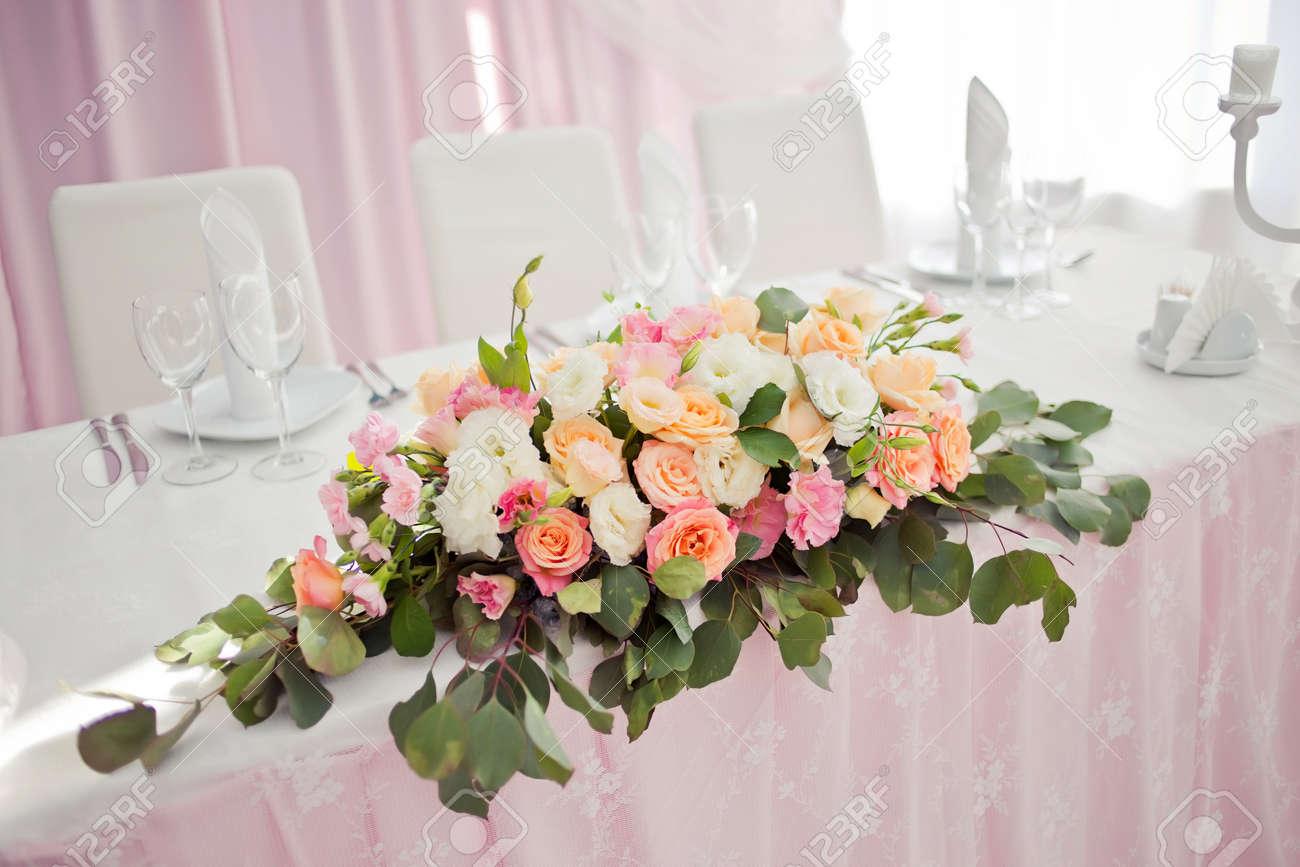 Weiss Hochzeit Blumendeko Rosa Www Tollebild Com