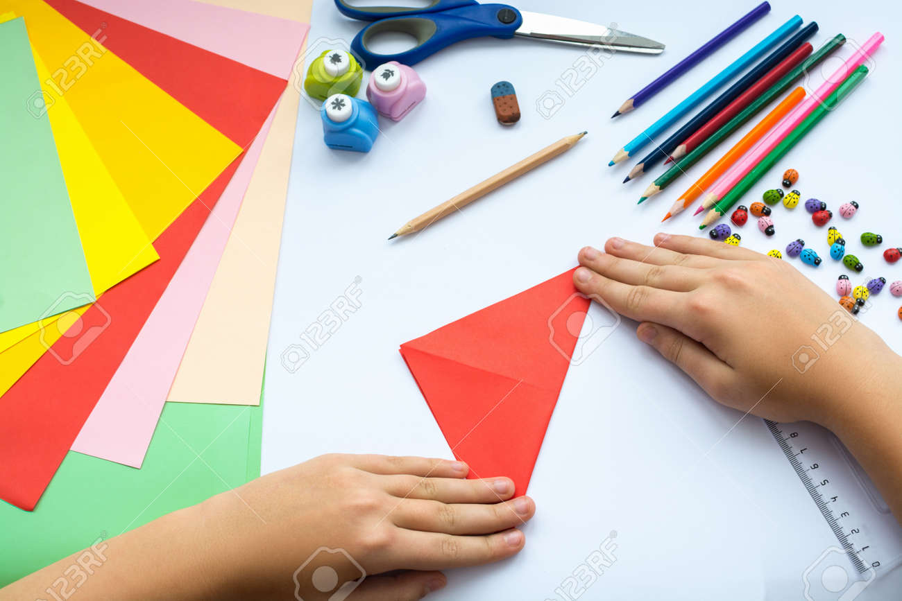 Color paper for children. What can be made from colored paper 68