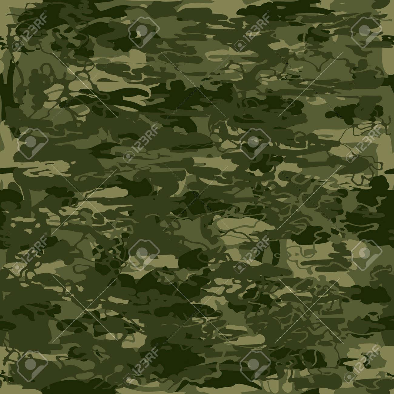 抽象的なベクトル ミリタリー迷彩シームレス パターン 図は 壁紙 パターンの塗りつぶし 布や包装紙でのプリント Web ページの背景に使用できます ネイビー色の組み合わせのイラスト素材 ベクタ Image