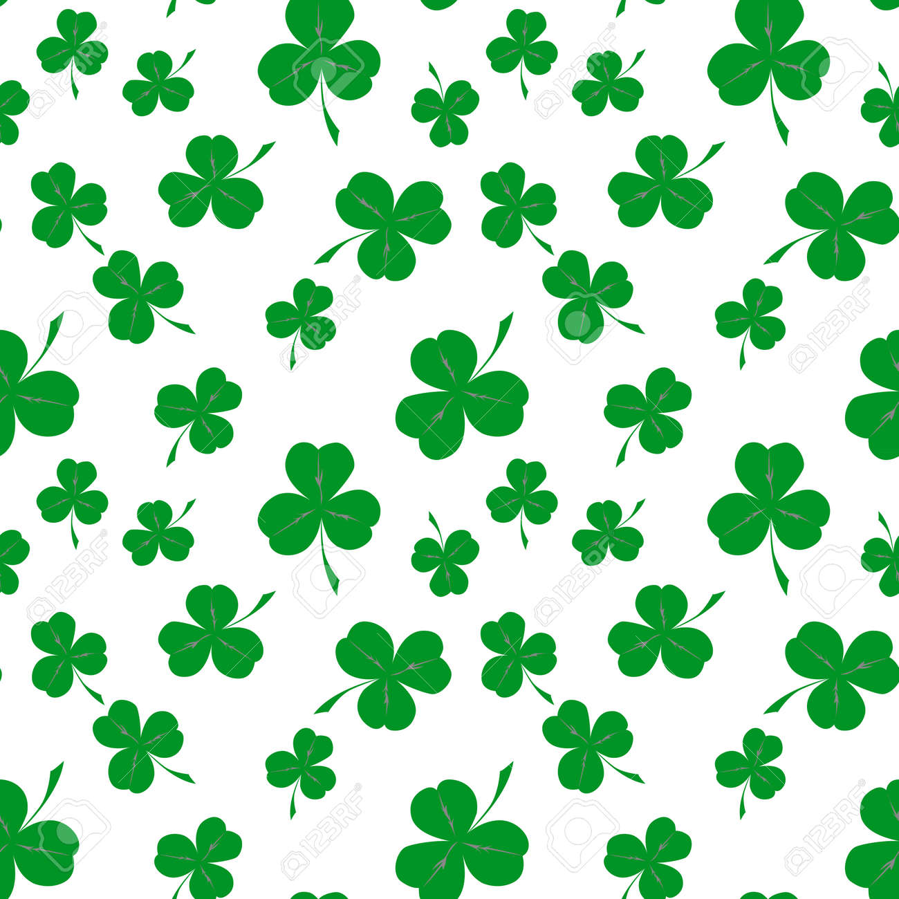 Seamless clover pattern, vector background for St. Patrick's Day. Vector illustration - 70187374