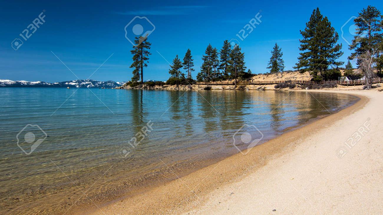 Long exposure of Sand Harbor beach at Lake Tahoe North, Nevada