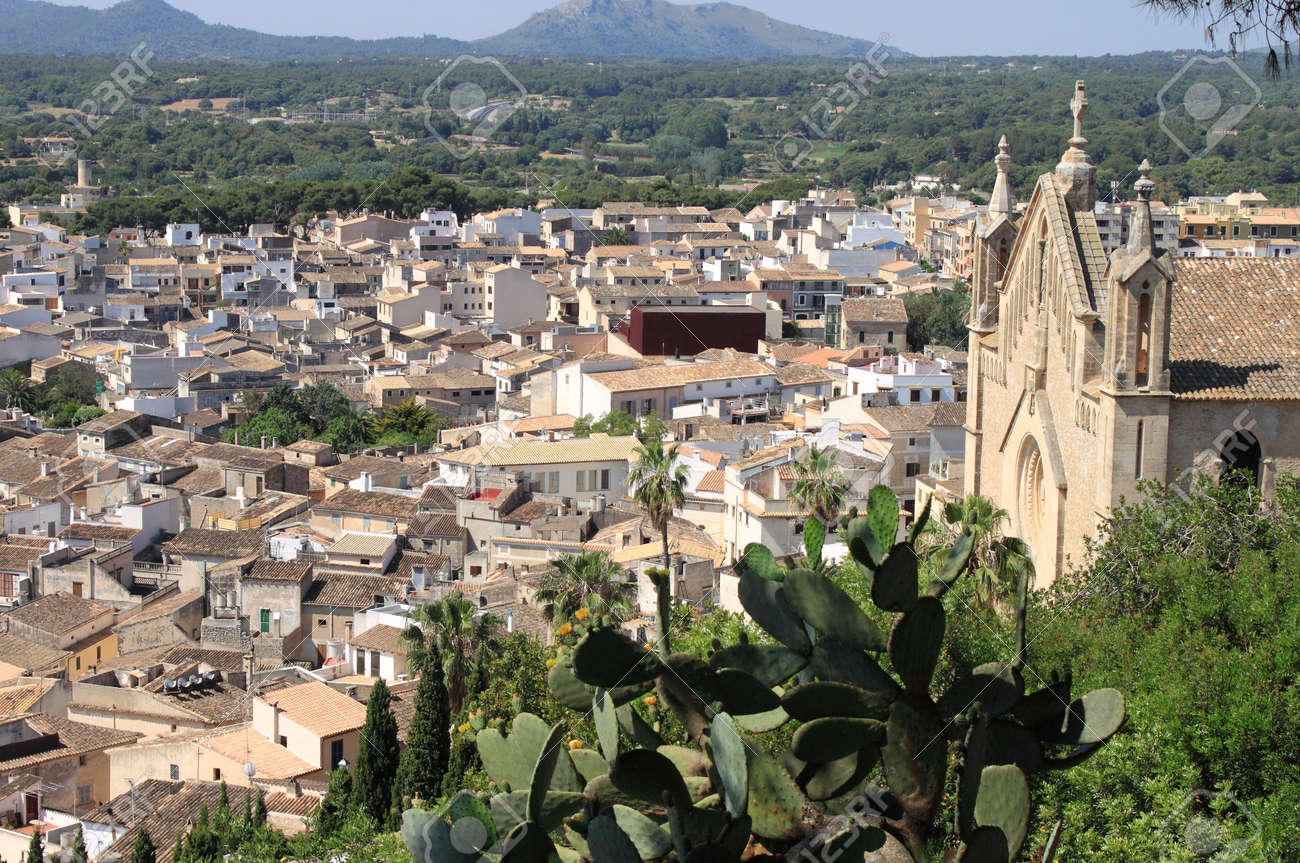 Panoramic view of the city of Arta in Mallorca Island. Spain Stock Photo - 14004672