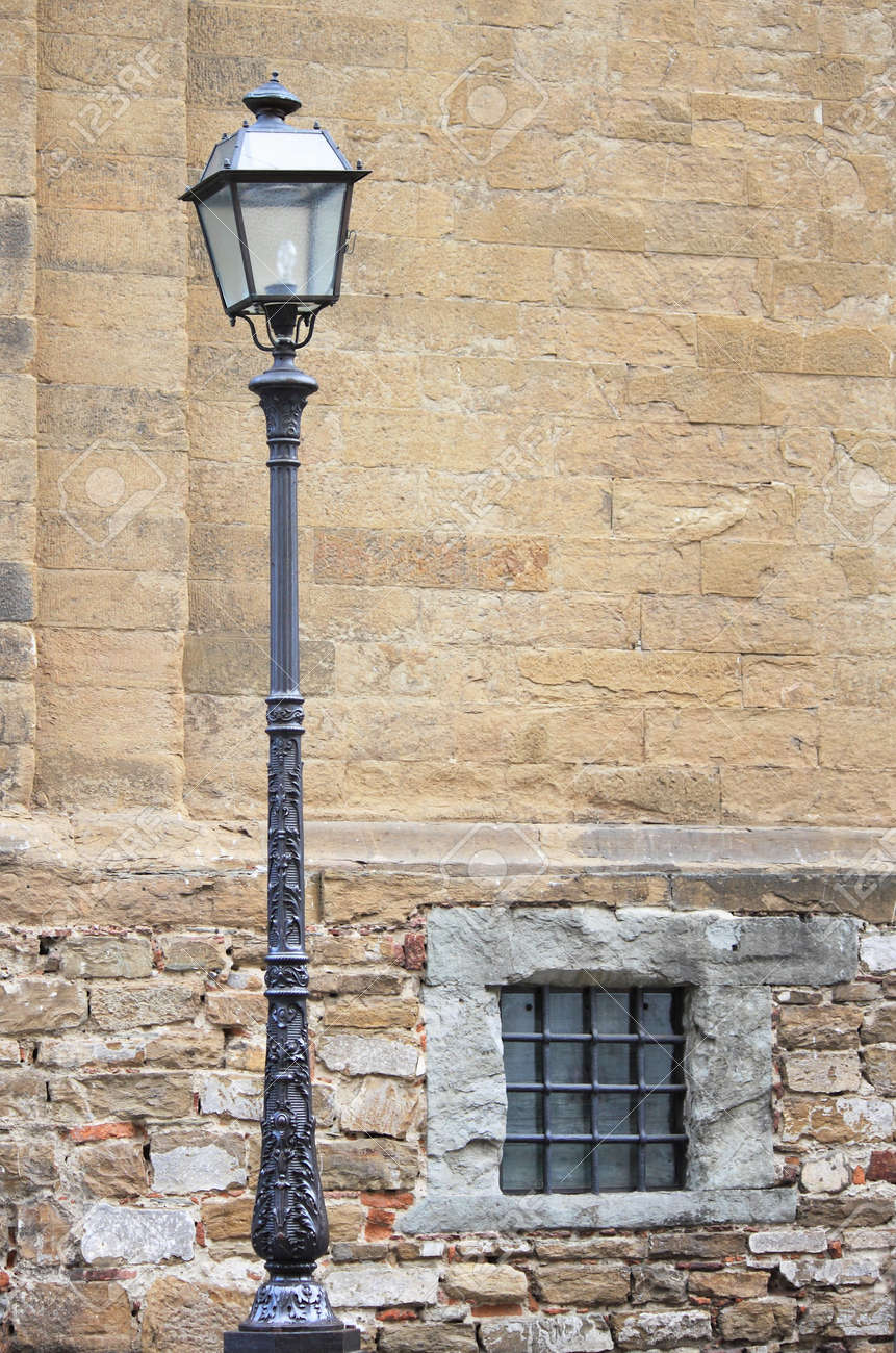 Old Medieval Street Lamp Stock Photo   15554986
