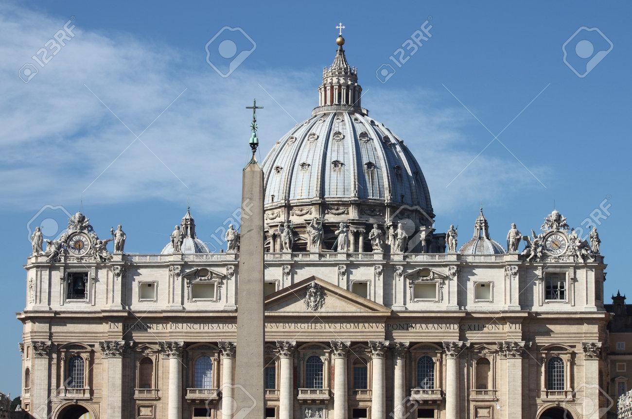 Facade of Saint Peter Basilica in Vatican City  Rome, Italy Stock Photo - 16628593