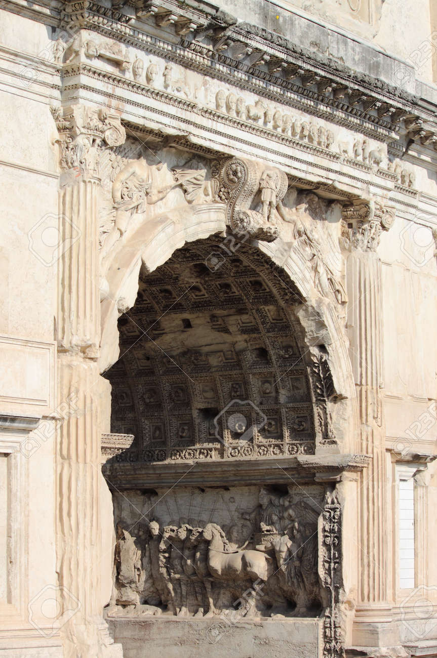 Basreliefs in the Arch of Titus  Rome, Italy Stock Photo - 16720887